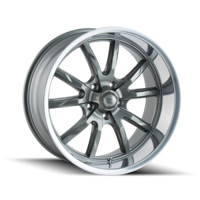 Roue Ridler 650, gris machine (20X10, 5x120, 72.62, déport 38)