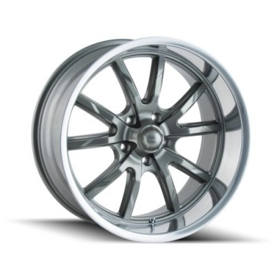 roue Ridler 650, gris machine (22X9.5, 5x120, 66.9, déport 18)