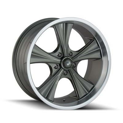 Roue Ridler 651, gris machine (22X9.5, 5x115, 72.62, déport 18)