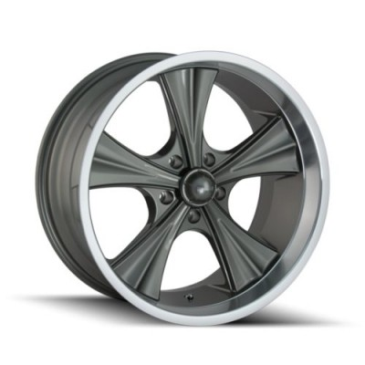 roue Ridler 651, gris machine (22X9.5, 5x114.3, 66.9, déport 18)