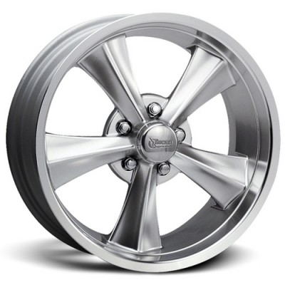 Roue Rocket Wheels Booster, argent ultra machine (17X8, 5x127, 87.6, déport 0)