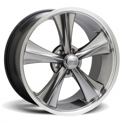 Roue Rocket Wheels Modern Muscle Booster, argent machine (18X9, 5x114.3, 78.1, déport 30)