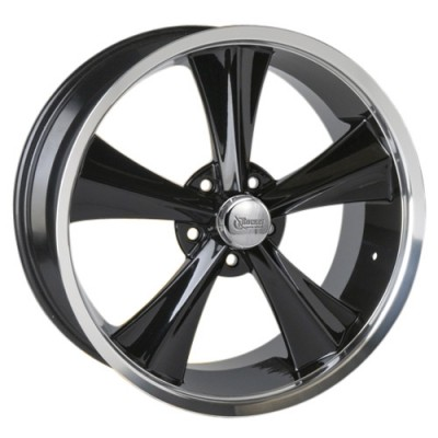 Roue Rocket Wheels Modern Muscle Booster, noir lustre (18X9, 5x120.7, 78.1, déport 35)