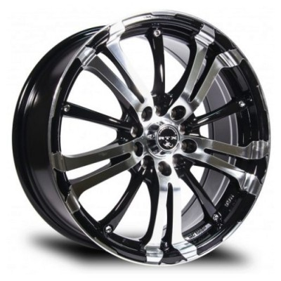 roue RTX Wheels Arsenic, noir machine (15X6.5, 5x108/114.3, 73.1, déport 40)