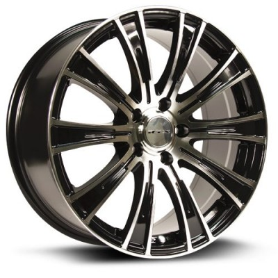Roue RTX Wheels Baron, noir machine (15X6, 5x114.3, 73.1, déport 38)