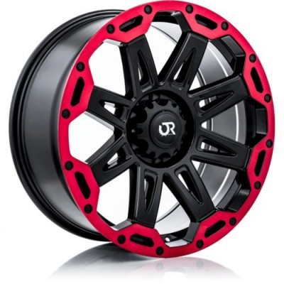 Roue RTX Wheels Gobi, noir lustre rebord machine (18X9, 6x135, 87.1, déport 10)