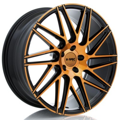 Roue RTX Wheels Impulse, noir rebord machine (20X9, 5x112, 66.6, déport 35)
