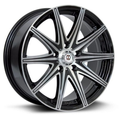 roue RTX Wheels Ix001, noir machine (17X7.5, 5x114.3, 73.1, déport 45)