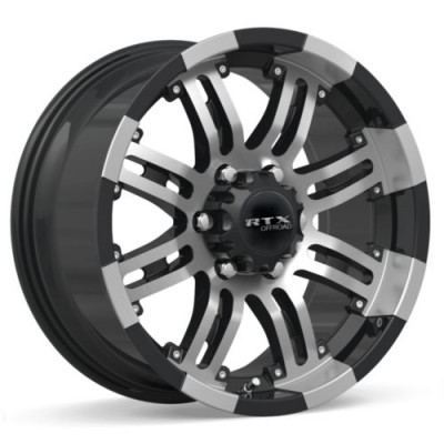 Roue RTX Wheels Loki II, noir rebord machine (18X9, 6x139.7, 108, déport 20)