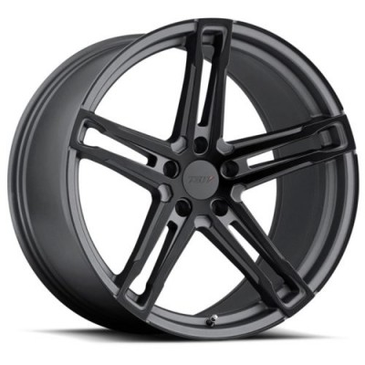 roue RTX Wheels MECHANICA, gris fonce machine (20X8.5, 5x108, 72.6, déport 40)