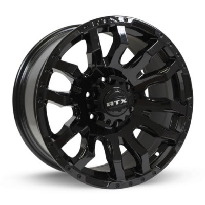Roue RTX Wheels Patton, noir lustre (20X9, 8x180, 125, déport 18)