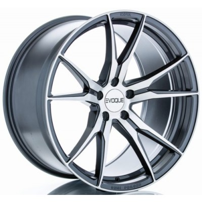 roue RTX Wheels Pinnacle, gris fonce machine (19X10.5, , 54.1, déport 15)