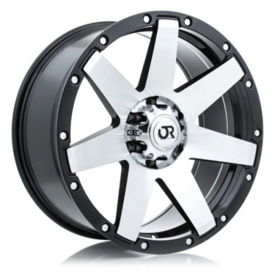roue RTX Wheels Raider, noir machine (18X8.5, 5x139.7, 78.1, déport 0)