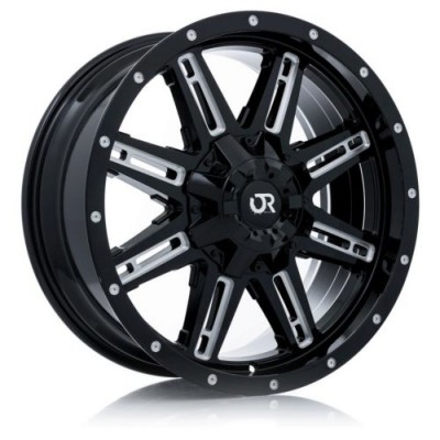 roue RTX Wheels Ravine, noir machine (18X9, 8x165.1, 125, déport 10)