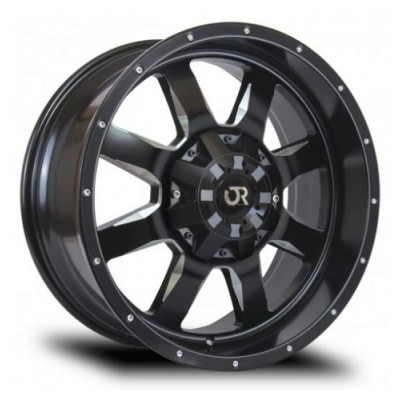 Roue RTX Wheels Ridgeline, noir rebord machine (15X6, 6x139.7, 108, déport 0)