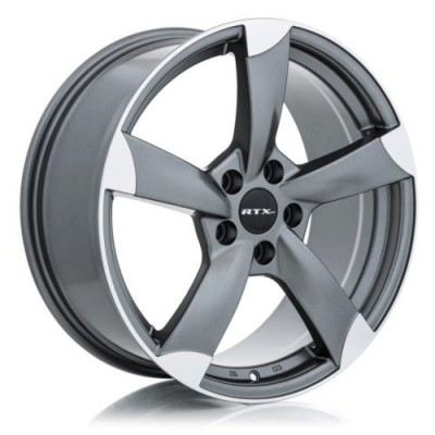 roue RTX Wheels RS2, gris fonce machine (17X7.5, 5x112, 66.6, déport 35)