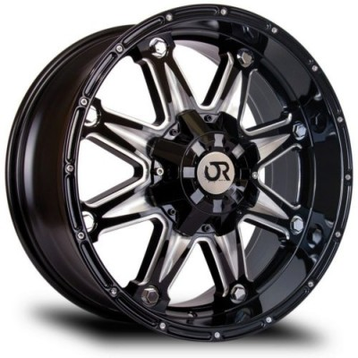 roue RTX Wheels Spine, noir machine (18X9, 8x165.1, 125, déport 15)