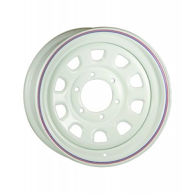 Roue RTX Wheels Trailer Wheel, blanc (16X7, 6x139.7, 108, déport 0)