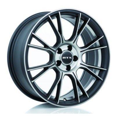 Roue RTX Wheels Vapor, noir rebord machine (18X8, 5x114.3, 73.1, déport 40)