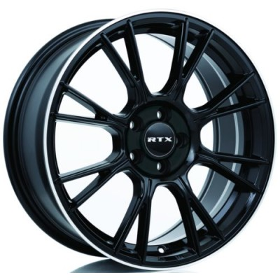Roue RTX Wheels Vapor, noir rebord machine (16X7, 5x114.3, 73.1, déport 40)