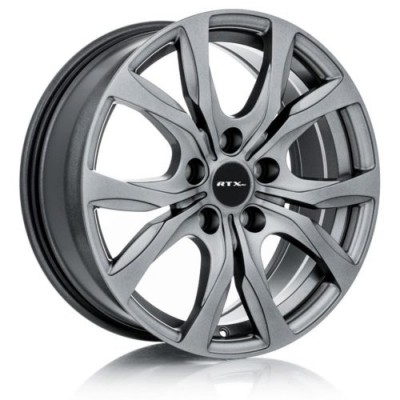 roue RTX Wheels Windsor, gris fonce machine (17X7, 5x127, 71.5, déport 35)