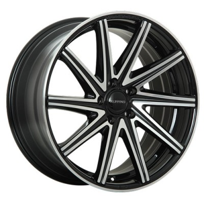 Roue Ruffino Wheels Mistral, noir machine (19X8, 5x114.3, 73.1, déport 45)
