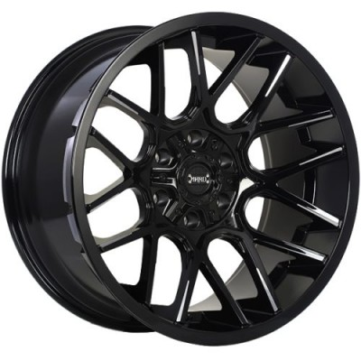 Roue Ruffino Wheels Tactical, noir lustre rebord machine (20X10.0, 5x127/139.7, 77.8, déport -12)