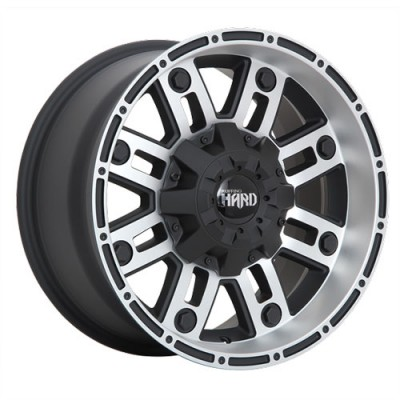 Roue Ruffino Wheels Traxx, noir mat machine (17X9, 5x127, 71.5, déport 0)