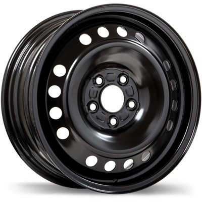roue Fast Wheels Steel Wheel, noir (16X6.5, 5x108, 63.4, déport 50)