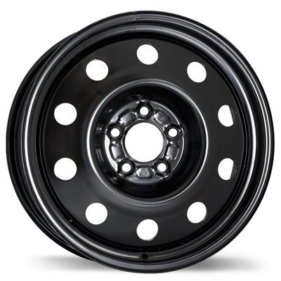 roue Fast Wheels Steel Wheel, noir (17X6.5, 5x114.3, 71.5, déport 39)
