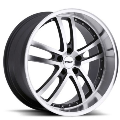 Roue TSW Wheels Cadwell, gris gunmetal machine (19X8, 5x120, 76, déport 20)