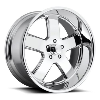 Roue US MAG Hustler U116, chrome (22X11, 5x127, 78.1, déport 18)