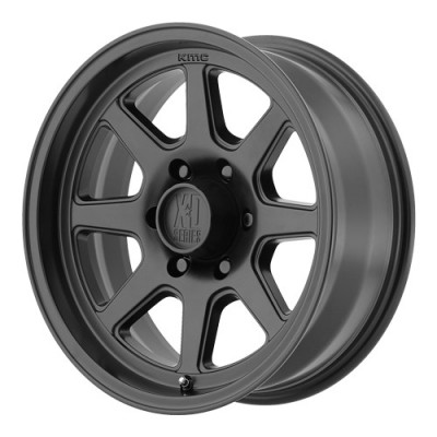 roue KMC Wheels Turbine, noir satine (17X9, 8x165.1, 130.81, déport 18)