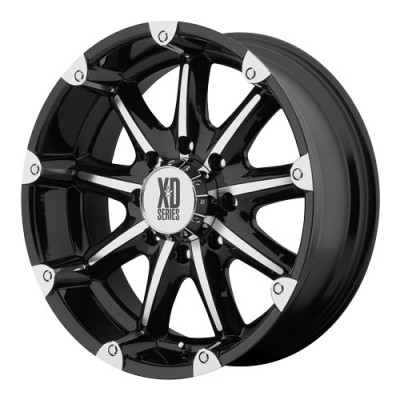 roue KMC Wheels Badlands, noir lustre machine (20X9, 5x135, 87.1, déport -12)