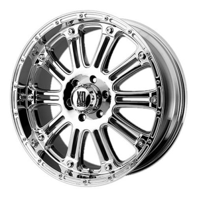 roue KMC Wheels Hoss, chrome (17X9, 6x135, 87.1, déport -12)