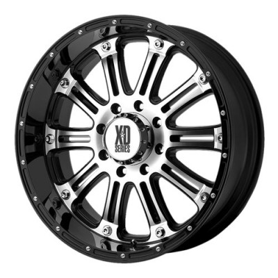 roue KMC Wheels Hoss, noir lustre machine (18X9, 8x170, 125.5, déport -12)