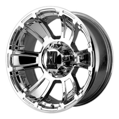 roue KMC Wheels Revolver, chrome (17X9, 6x139.7, 106.25, déport -12)