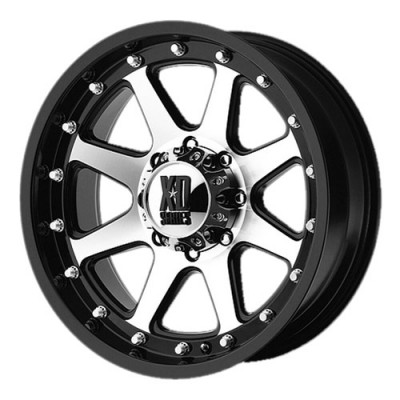 roue KMC Wheels Addict, noir mat machine (16X9, 8x165.1, 125.5, déport -12)