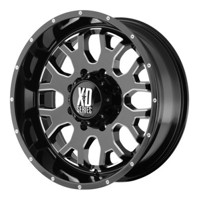 roue KMC Wheels Menace, noir lustre machine (17X9, 8x165.1, 125.5, déport 0)