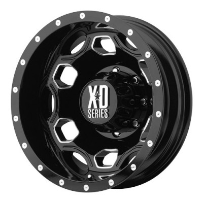 roue KMC Wheels Batallion, noir lustre machine (22X8.25, 8x165.1, 117, déport -111)