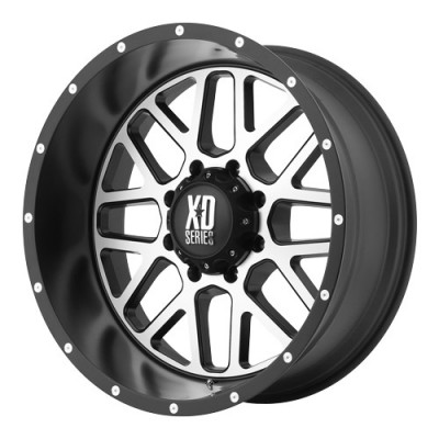 roue KMC Wheels Grenade, noir machine (22X9.5, 6x139.7, 106.25, déport 0)