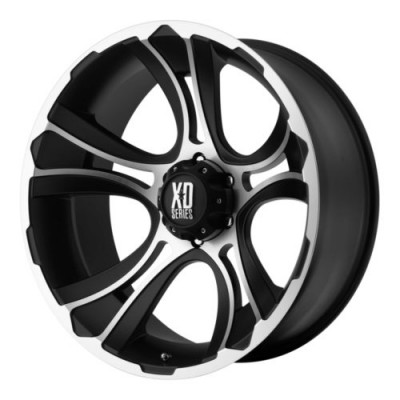 Roue XD Series by KMC Wheels CRANK, noir mat machine (20X9, 5x150, 110.5, déport 0)