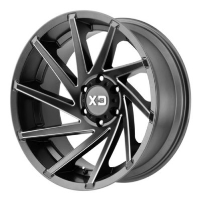 Roue XD Series by KMC Wheels CYCLONE, gris machine (20X9, 8x180, 124.2, déport 0)