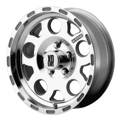 Roue XD Series by KMC Wheels ENDURO, argent machine (17X9, 5x127, 83.5, déport -6)