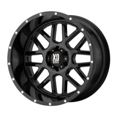 Roue XD Series by KMC Wheels GRENADE, noir lustre (18X9, 6x120, 72.6, déport 18)
