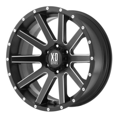Roue XD Series by KMC Wheels HEIST, noir machine (17X8, 5x120, 74.1, déport 35)