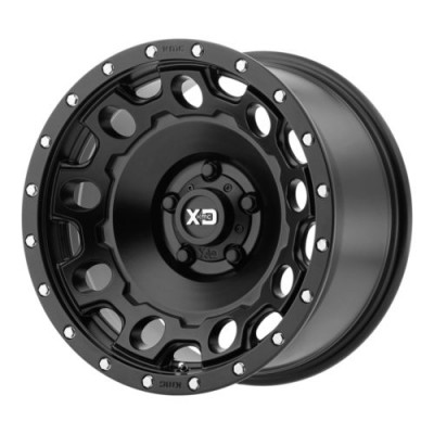 Roue XD Series by KMC Wheels HOLESHOT, noir satine (20X10, 5x139.7, 108, déport -24)