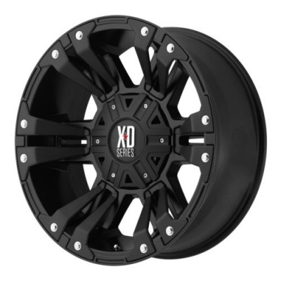 Roue XD Series by KMC Wheels MONSTER 2, noir mat (17X9, 8x180, 124.2, déport 18)