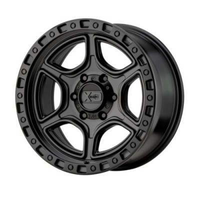 Roue XD Series by KMC Wheels PORTAL, noir satine (16X8, 6x139.7, 106.25, déport -6)