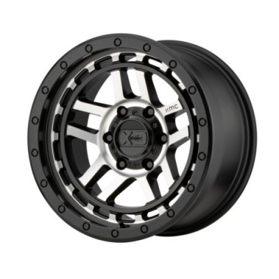 Roue XD Series by KMC Wheels RECON, noir machine (17X8.5, 5x127, 71.5, déport 18)
